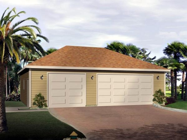 Elevation of Contemporary   Garage Plan 49040