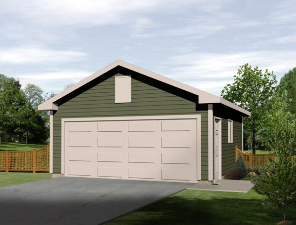 Elevation of Traditional   Garage Plan 49046