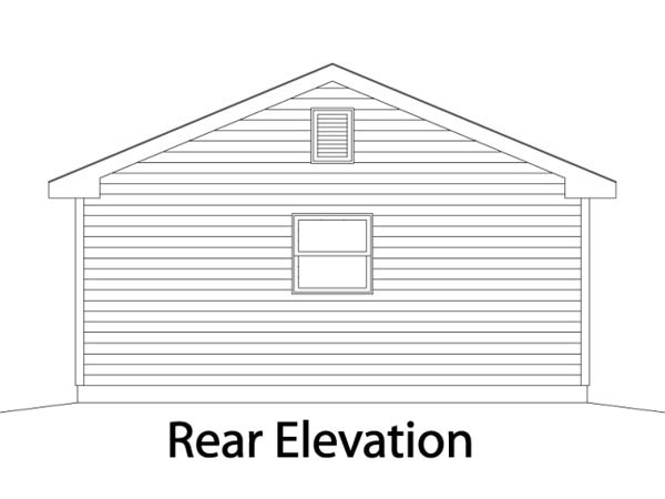 Rear Elevation of Traditional   Garage Plan 49046