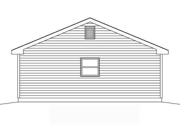 Rear Elevation of Traditional   Garage Plan 49050