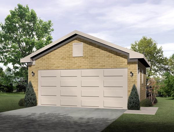 Traditional 2 Car Garage Plan 49052 Elevation