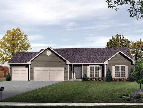Ranch House Plan 49060 Elevation