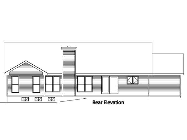 Ranch House Plan 49060 Rear Elevation