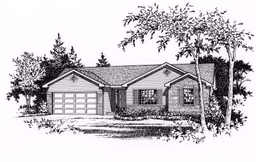 Ranch House Plan 49064 Elevation