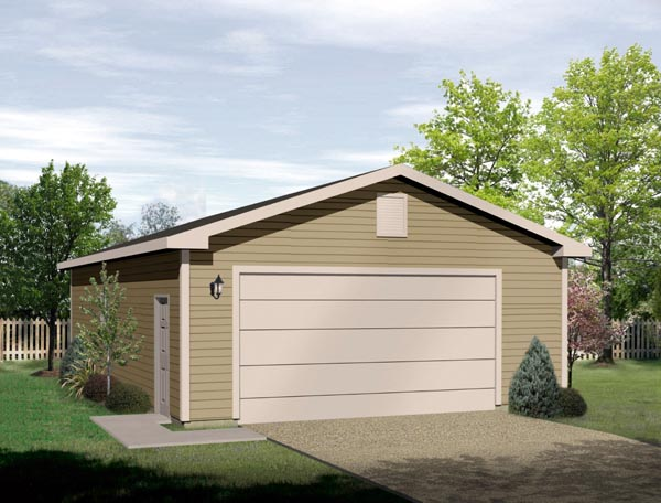 Elevation of Garage Plan 49067