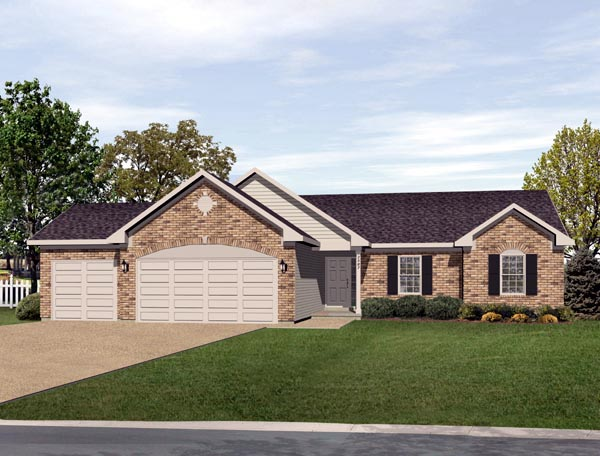 Ranch House Plan 49074 Elevation