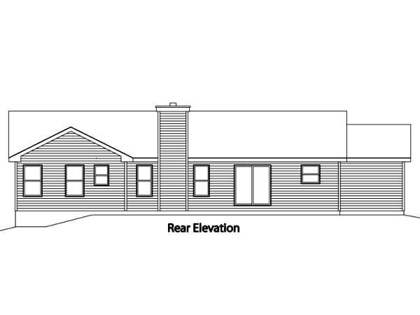 Ranch House Plan 49076 Rear Elevation