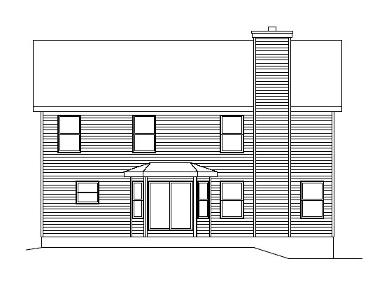 Traditional House Plan 49079 Rear Elevation