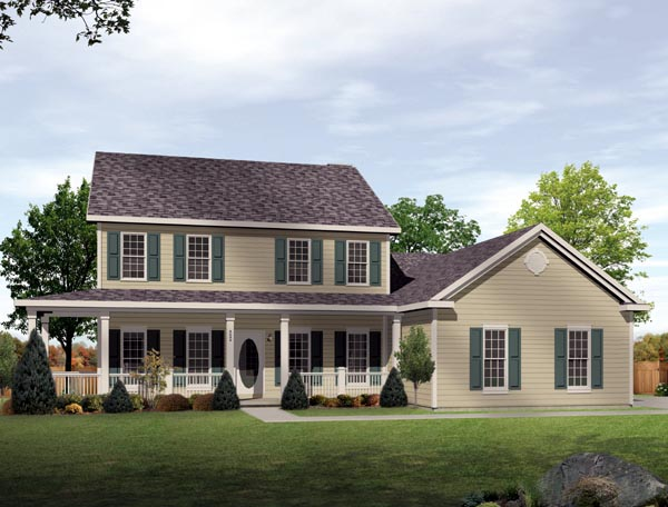 House Plan 49102 with 4 Beds, 4 Baths, 2 Car Garage Elevation
