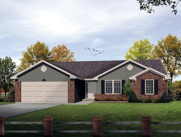 House Plan 49109 Elevation