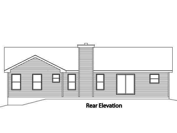 House Plan 49109 Rear Elevation