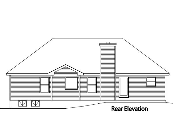 House Plan 49111 Rear Elevation