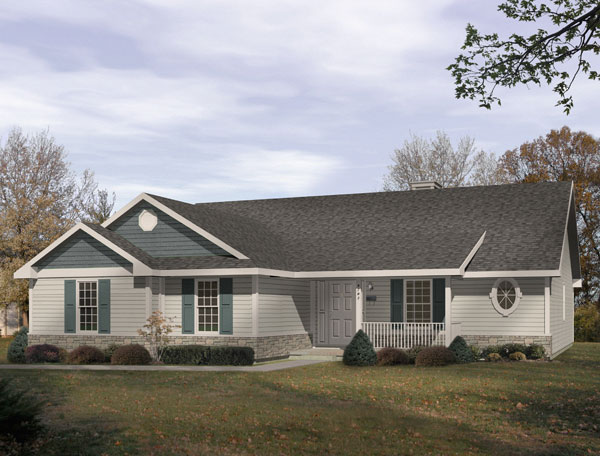 Ranch House Plan 49113 Elevation