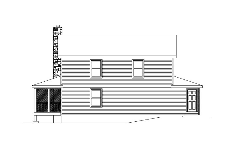 Country House Plan 49123 Rear Elevation