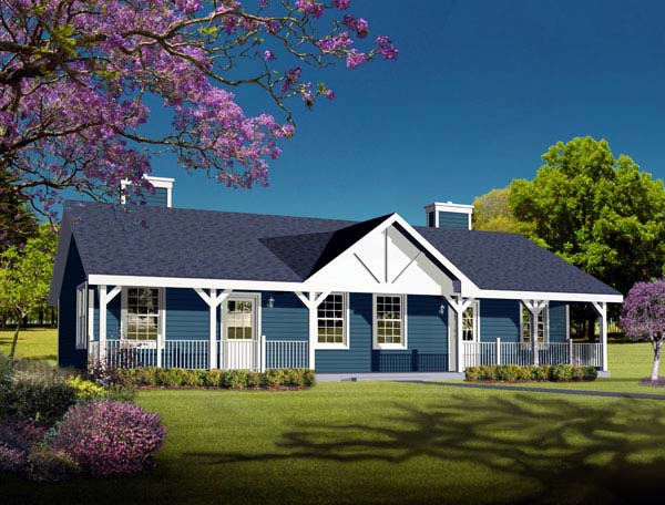 Multi family plan 49126 at for Single story multi family house plans