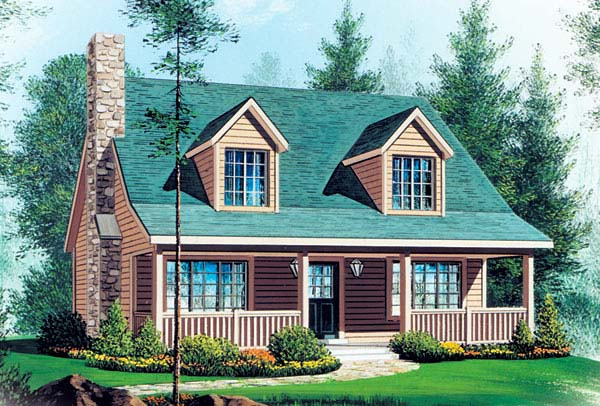 Cape Cod House Plan 49128 Elevation