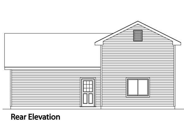 Traditional Garage Plan 49129 Rear Elevation