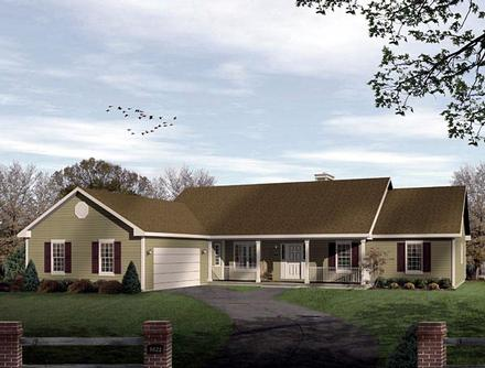Ranch Elevation of Plan 49136