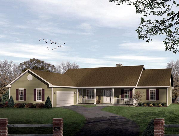 Ranch House Plan 49136 Elevation