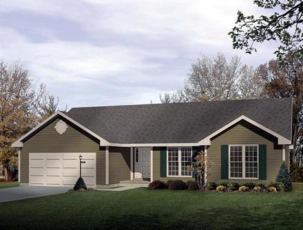 Ranch Elevation of Plan 49137