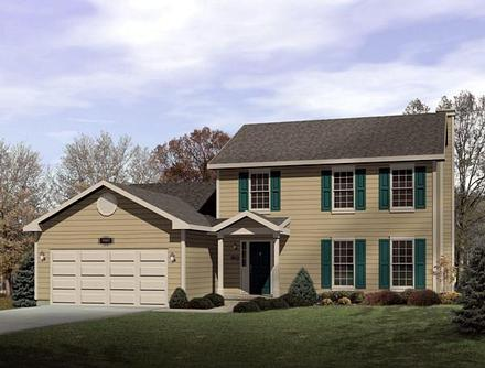 Colonial Elevation of Plan 49143