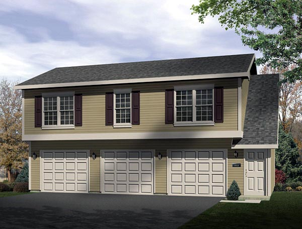 Traditional Garage Plan 49153 Elevation