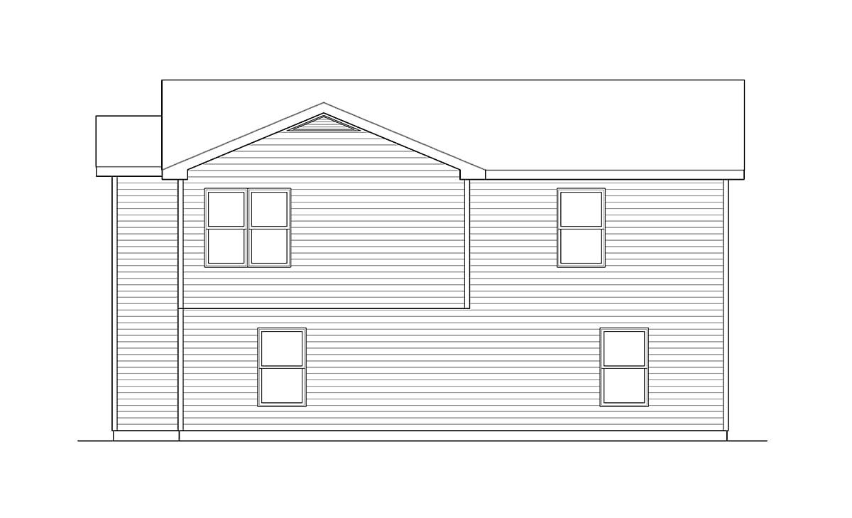 Traditional Garage Plan 49153 Rear Elevation