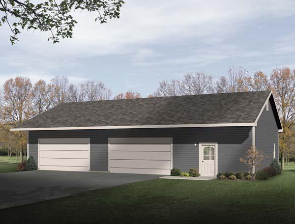 Garage Plan 49163 Elevation