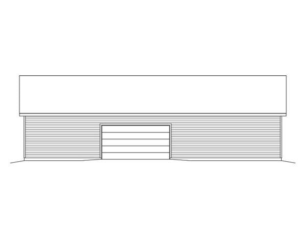 Rear Elevation of Plan 49163