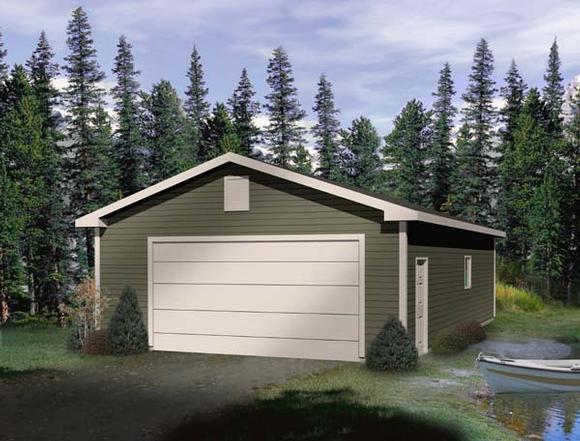 4 Car Garage Plan 49164 Elevation