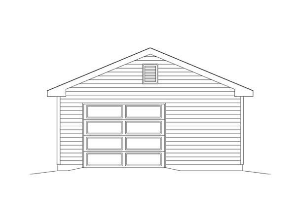 Garage Plan 49173 Rear Elevation