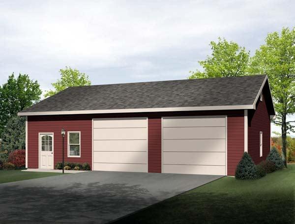Garage Plan 49185 Elevation