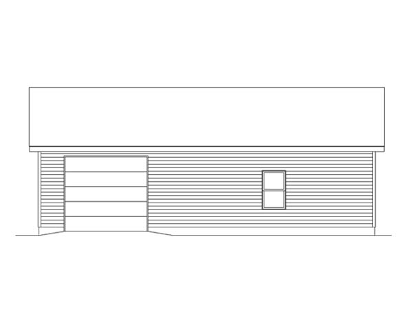 Garage Plan 49185 Rear Elevation