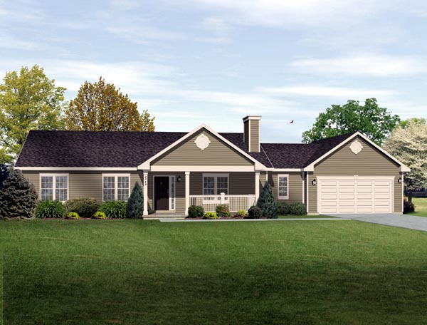 House plan 49189 at for Long ranch house plans