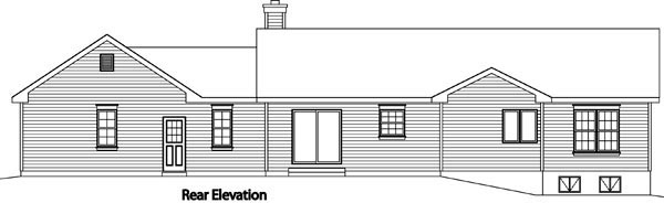 Ranch Traditional House Plan 49189 Rear Elevation