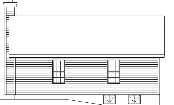 Ranch House Plan 49195 Rear Elevation