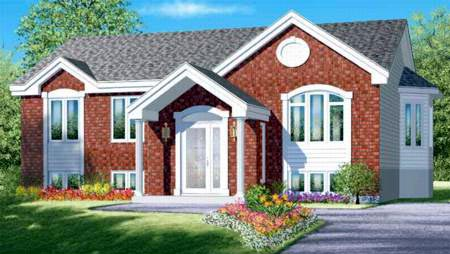 Elevation of Colonial   House Plan 49336