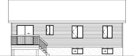 Rear Elevation of Colonial   House Plan 49336