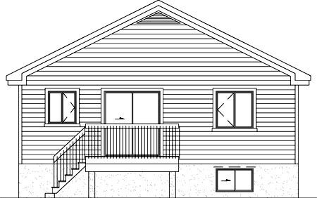 Traditional House Plan 49472 Rear Elevation