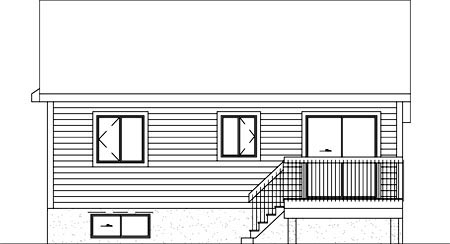 Traditional House Plan 49473 Rear Elevation