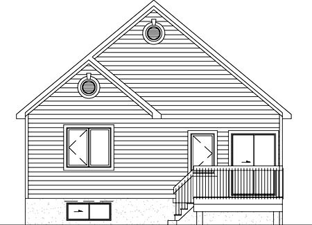 Traditional House Plan 49489 Rear Elevation