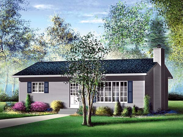 Ranch House Plan 49491 Elevation