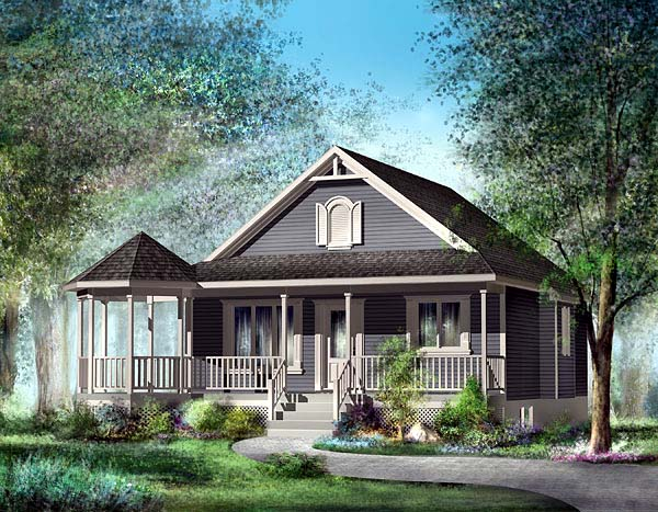 Elevation of Southern   House Plan 49492
