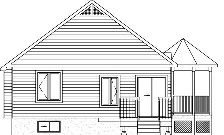 Rear Elevation of Southern   House Plan 49492