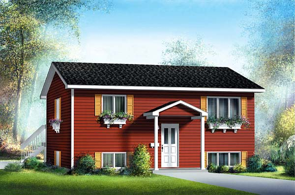 Colonial House Plan 49502 Elevation