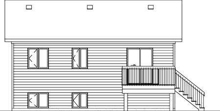 Colonial House Plan 49502 Rear Elevation