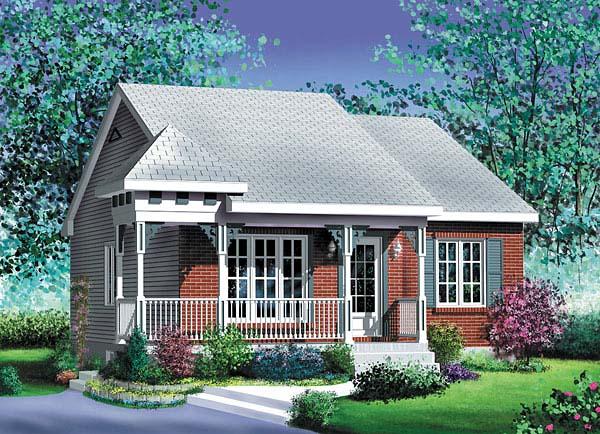 House Plan 49505 Elevation