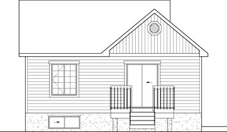 Colonial House Plan 49537 Rear Elevation