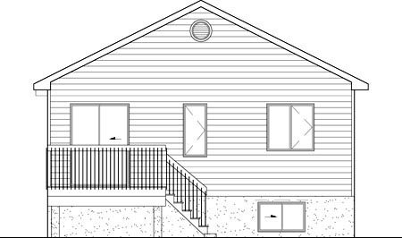 Traditional House Plan 49569 Rear Elevation