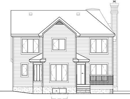 Victorian House Plan 49630 Rear Elevation